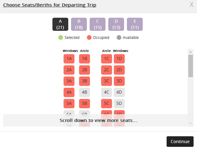 Select Seat Ets Ktmb Pilih Tempat Duduk Tiket Bas Online